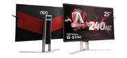 "МОНИТОР 25"" AOC AGON AG251FG Black-Red LED,  2560x1440,  144Hz,  1 ms,  170° / 160°,  400 cd / m,  50M:1,  +HDMI,  +DisplayPort,  +4xUSB,  +MM,  +регулировка по высоте"