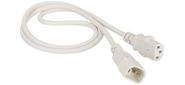 Шнур питания C13-C14,  3х0.75,  220В,  10А,  белый,  3 метра