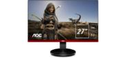 Монитор жидкокристаллический AOC Монитор LCD 27'' [16:9] 1920х1080 (FHD) VA,  nonGLARE,  350cd / m2,  H178° / V178°,  3000:1,  80M:1,  16.7M,  1ms,  VGA,  HDMI,  DP,  Pivot,  Tilt,  Swivel,  Speakers,  3Y,  Black-Red