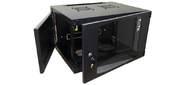 Шкаф настенный Lanmaster Next TWT-CBWNG-12U-6X6-BK 12U 550x600мм пер.дв.стекл съемные бок.пан. 60кг черный