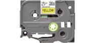 Наклейка ламинированная TZ-E641  (18 мм черн / желт,  аналог TZ-641)