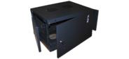 Шкаф настенный Lanmaster Next TWT-CBWNM-6U-6X6-BK 6U 550x600мм пер.дв.металл съемные бок.пан. 60кг черный