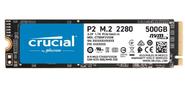Crucial P2 SSD 500GB,  M.2  (2280),  PCIe Gen 3.0,  NVMe,  R2300 / W940,  150 TBW