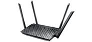 ASUS WiFi Router RT-AC1200  (WLAN 1167Mbps,  Dual-band 2.4GHz+5.1GHz,  802.11ac+4xLAN RG45 10 / 100+1xWAN 10 / 100+1xUSB2.0) 4x 5dBi ext Antenna