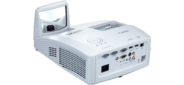 Canon projectors LV-WX300UST,  DLP,  1280x800  (WXGA),  Ultra Short Throw,  Standart,  3000 Lm  (2500 Lm Eco Mode),  2300:1,  5000 Hrs  (8000 Hrs Eco Mode),  USB-B,  2xHDMI 1.3,  LAN,  5 kg