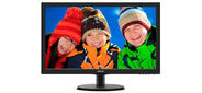 "Philips 223V5LSB / 62 21.5"" 1920x1080 TN LED 16:9 5ms VGA DVI 10M:1 170 / 160 250cd Glossy-Black"