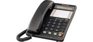 Panasonic KX-TS2365RUB 30 ст., диспл.,  спикер.,  автод.,  лампа выз.,  Data,  черный