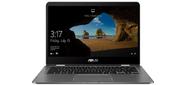 "ASUS Zenbook Flip 14 UX461FA-E1039T Intel Core i5-8265U / 8192Mb / 512гб SSD / UMA / 14.0"" FHD 1920x1080 TOUCH  / WiFi / BT / FP / Cam / Illum KB / Win10Home64 / 1.4Kg / Slate Grey / Sleeve + Stylus + USB3.0 to RJ45"