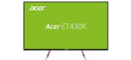 "ACER 43"" ET430Kwmiippx IPS LED,  3840x2160,  5ms,  350cd / m2,  1100:1,  2xHDMI (2.0) + DP (1.2) + MiniDP + DP Out + Audio Out,  7Wx2,  White  (repl. UM.ME0EE.008)"