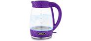 Чайник электрический Kitfort KT-6123-1 2л. 2200Вт фиолетовый  (корпус: стекло)