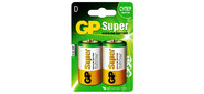 Батарея GP Super Alkaline 13A LR20 D  (2шт.уп.)