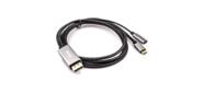 VCOM CU422MCPD-1.8M Кабель-адаптер USB 3.1 Type-Cm --> DP (m) 4K@60Hz,  1.8m ,  PD, Aluminium Shell