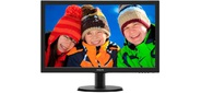 "Philips 243V5QHABA 23.6"" 1920x1080 MVA W-LED 16:9 8ms VGA DVI-D HDMI 10M:1 178 / 178 250cd Sapeakers Black"