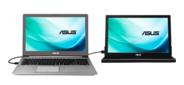 "ASUS MB169B+ 15.6"" USB-Portable Monitor,  LED,  1920x1080,  14ms,  200cd / m2,  600:1,  160° / 160°,  USB 3.0x1,  Pivot Auto-Rotate,  Ultra-slim,  0.8Kg,  Smart Case,  Dark Grey,  90LM0183-B01170"