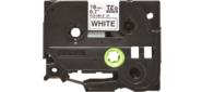 Наклейка ламинированная TZ-EFX241  (12 мм черн / бел,  аналог TZ-FX241)