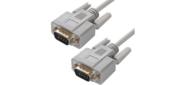 Greenconnect Кабель 15.0m 0-модемный COM,  DB9 / DB9 9M / 9M,  серый,  30 AWG,   (GCR-DB902-15m)