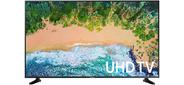 "Телевизор Samsung LED 43"" UE43NU7090UXRU серебристый Ultra HD 100Hz DVB-T2 DVB-C DVB-S2 USB WiFi Smart TV  (RUS)"