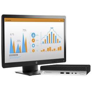 HP Bundles 400 G5 MiniDT Intel Core i3-9100T / 8192Mb / 256гб SSD / BT / WiFi / war 1y / Win10Pro64 + Monitor N246v