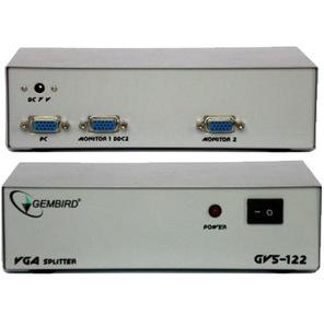 """Разветвитель VGA 1 ПК - 2 монитора Gembird """"GVS122"""""""