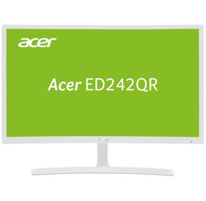 "Acer ED242QRwi 23.6"" LED VA,  1920x1080,  4ms,  250cd / m2,  3000:1,  VGA + HDMI,  White Curved 1800R"