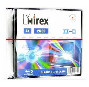 Диск BD-R Mirex 25 Gb,  4x,  Slim Case  (1),   (1 / 50)
