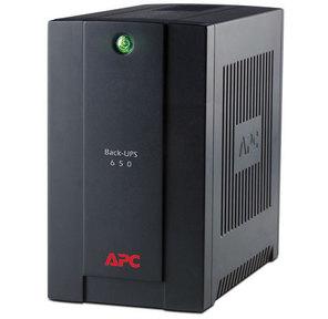 APC Back-UPS RS,  650VA / 390W,  230V,  AVR,  3xSchuko outlets  (battery backup),  DSL protection,  USB,  PCh