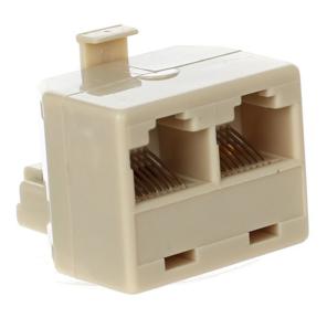 Переходник-разветвитель 8P8C Plug / 2-8P8C Jack VCOM <VTE7714>