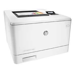 HP Color LaserJet Pro M452dn Printer  (A4, 600x600dpi, 27 (27)ppm, ImageREt3600, 128Mb, Duplex,  2trays 50+250, USB / GigEth,  ePrint,  AirPrint,  PS3,  1y warr,  4Ctgs1200 pages in box)