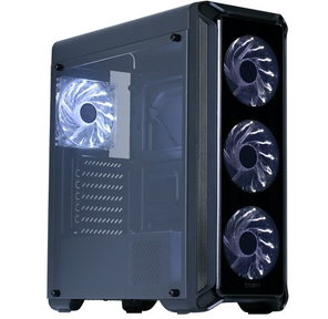 Корпус Zalman I3 Edge,  ATX Midi Tower,  без БП,  боковое окно,  195 (Ш) x 467 (В) x 457 (Г) мм,  черный,  ATX /  Micro ATX /  MINI-ITX,  отсеки 5.25х1,  3.5х2,  2.5х2,  USB 2.0x2,  USB 3.0x1,  front acryl