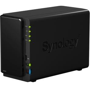 Synology DS216 DC1, 3Ghz CPU,  512Мb,  RAID-0, 1,  up to 2 hot plug HDDs SATA (3.5''),  2xUSB 3.0,  1xUSB, 2.0,  1GigEth,  iSCSI,  2xIPcam,  1xPS