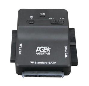 """Переходник USB3.0->PATA / SATA Agestar """"3FBCP1"""",  с блоком питания  (ret)"""