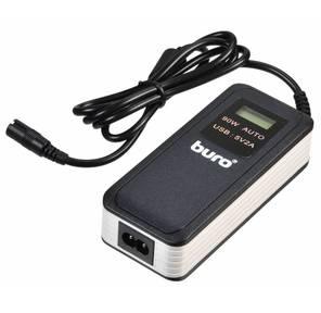 Адаптер AC Buro BUM-0065A90 Auto / 90W / 15V-20V / 11 connectors / 2A USB Port / LCD