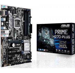 ASUS PRIME H270-PLUS,  LGA1151,  H270,  4xDDR4,  D-Sub+DVI+HDMI,  CrossFireX,  SATA3 + RAID,  Audio,  Gb LAN,  USB 3.0x8,  USB 2.0x6,  ATX