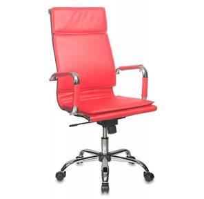 Бюрократ Ch-993 red,  Кресло,  иск. кожа,  высокая спинка,  крестовина хром,  красный  (Товар в мятой упаковке!)