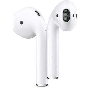 Apple AirPods 2  (2019) Bluetooth Наушники с микрофоном в зарядном футляре  (Футляр заряжается через разъём Lightning) MV7N2RU / A