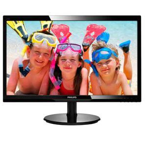 "Philips 246V5LSB  (00 / 01),  Монитор жидкокристаллический Philips LCD 24"",  16:9,  1920х1080 TN,  nonGLARE,  250cd / m2,  H170° / V160°,  20М:1,  16, 7M Color,  5ms,  VGA,  DVI,  Tilt,  2Y,  Black"