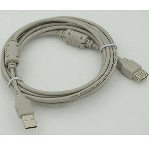 Мультимедийный кабель USB2.0 А вилка-USB А вилка с ф / фильтром,  длина 3 м.