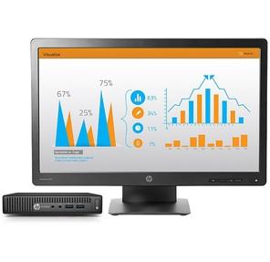HP Bundle ProDesk400 G2 MiniDT Intel Core i3-6100T,  4GB,  500GB,  DVDRW,  USB slim kbd / mouse,  FreeDos,  1-1-1 Wty + HP P233 23''