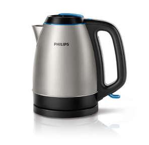 Philips HD9302 / 21,  2200Вт,  1.5л,  съемная крышка,  корпус - сталь,  цвет: серебристый / черный