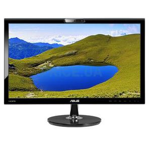 "ASUS VK228H 21.5"" Wide LCD monitor,  16:9,  1920 x 1080,  2ms,  250 cd / m2 ,  80 M:1,  170° (H),  160° (V),  Built-in 1.0Mega Pixel,  Fixed webcam,  1W x 2 stereo speakers,  RMS,  VESA Wall Mounting,  Kensington lock,  DVI,  HDMI,  black,  Energy Star®"