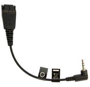 Cord with QD to 2.5 mm stero plug,  Panasonic