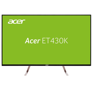 """ACER 43"""" ET430Kwmiippx IPS LED,  3840x2160,  5ms,  350cd / m2,  1100:1,  2xHDMI (2.0) + DP (1.2) + MiniDP + DP Out + Audio Out,  7Wx2,  White  (repl. UM.ME0EE.008)"""