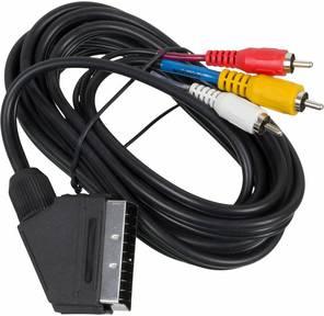 Кабель аудио-видео Ningbo SCART  (m) / 3хRCA  (m) 2м.  (JSC005-3)