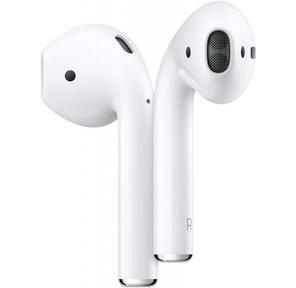 Apple AirPods 2  (2019) Bluetooth Наушники с микрофоном в зарядном футляре  (Футляр заряжается как через разъём Lightning,  так и по беспроводной технологии стандарта Qi) MRXJ2RU / A