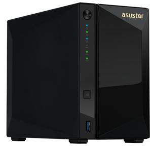 ASUSTOR AS4002T 2-Bay NAS / CPU  (2Core) / 2Gb / noHDD, LFF (HDD, SSD) / 1x1GbE (LAN) / 2xUSB3.1 ; 90IX0151-BW3S10