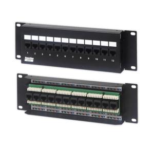 Hyperline PPW-12-8P8C-C5e-FR Патч-панель настенная c передним монтажом,  12 портов RJ-45 (8P8C),  категория 5e