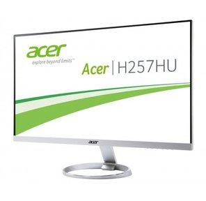 "Acer 25"" H257HUsmidpx  silver black  (IPS,  LED,  LCD,  ZeroFrame,  2560x1440,  4 ms,  178° / 178°,  350 cd / m,  100M:1,  +HDMI,  +DVI,  +DP, +MM)"