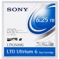 Sony Ultrium LTO6,  6, 25TB  (2, 5 Tb native),  bar code labeled Cartridge  (for libraries & autoloaders)  (analog HP C7976L /  C79756 +label  /  00V7590L)
