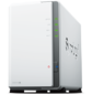 Synology DS218j DC1, 3GhzCPU / 512 Mb DDR3 / RAID0, 1 / upto 2HDDs SATA (3, 5') / 2xUSB3.0 / 1GigEth / iSCSI / 2xIPcam (upto 14) / 1xPS repl DS216j