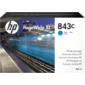 Cartridge HP 843C с голубыми чернилами 400 мл PageWideXL / PageWide 5000 / 4x000 / 8000